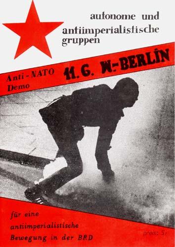 """""""Anti-NATO Demo 11.6. W.-Berlin: für eine anitimperialistische Bewegung in der BRD""""-1982 booklet"""