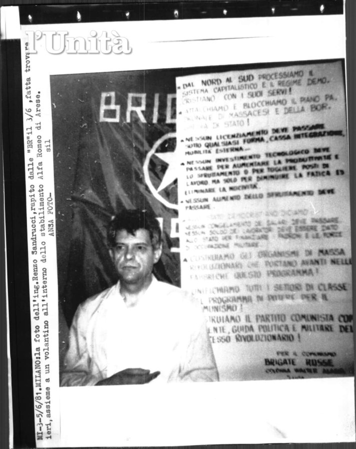 Renzo Sandrucci in the custody of the BR-WA